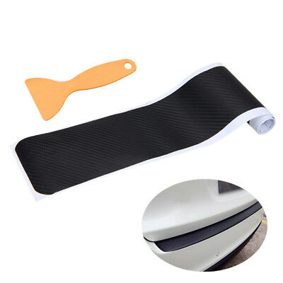 Black Carbon Fiber Auto Rear Guard Bumper Tail Lip Protect Anti Scratch Sticker
