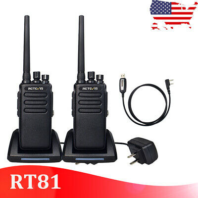 2XRETEVIS RT81 DMR 32CH 10W UHF Encryption Digital/Analog FM Two way Radio  US