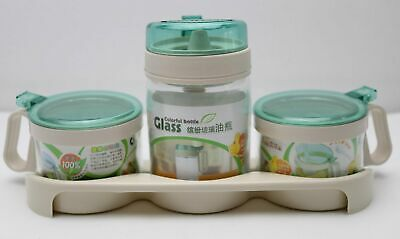 New 3 Piece Condiments Set with Tray 26503