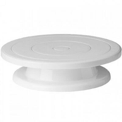 New 360 Cake Stand Turntable White 20978