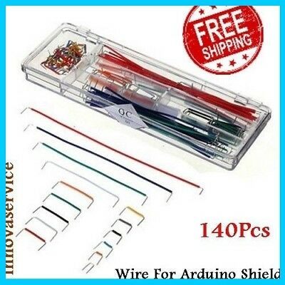 140pcs U Shape Solderless Breadboard Jumper Cable Dupont Wire For Arduino Shield
