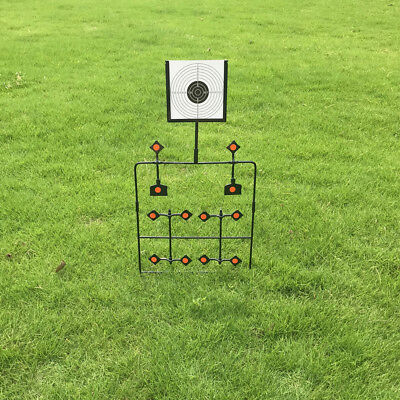 Improved Airgun Spinner/ Plinking Target With 12 Target Plates and 20 pcs paper