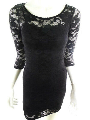 b9080951c4c Sparkz Womens Size XS   S Black Bandage Bodycon Dress 3 4 Sleeve Formal Sexy