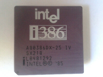 INTEL i386DX-25 CPU. CERAMIC IN GOOD CONDITION. PINS CHECKED.