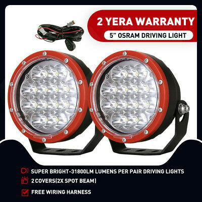 5inch 21600W CREE LED Driving Work Lights Spotlights Spot Beam Offroad Truck HID