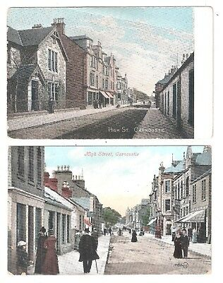 Two Carnoustie High Street Angus postcards Scotland both unused