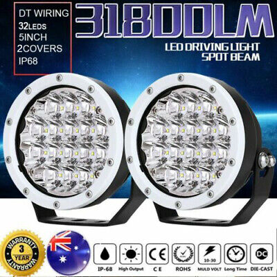 5inch 21600W CREE LED Driving Work Lights Spot Round Spotlight White Offroad HID