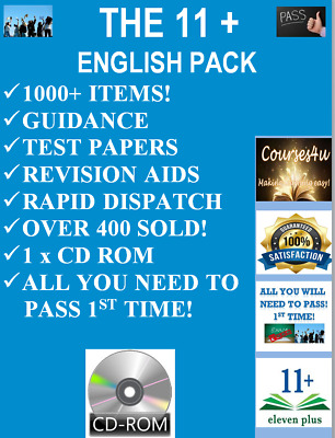 Eleven Plus 11 + English 200 Practice Exam/Test Papers Cem Bond Gl On 1 X Cd Rom