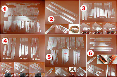 6kinds Leather Craft Acrylic Perspex Watch  Strap Band Stencil Template Tool Set