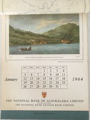 Vintage Collectable NATIONAL BANK OF AUSTRALIA CALENDAR  1964