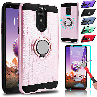 For LG Stylo 5/4 Plus Hard Hybrid Case Cover + Tempered Glass Screen Protector