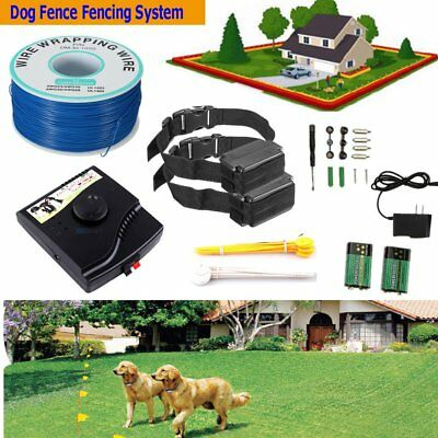 Underground In-Ground Waterproof Electric Dog Pet Fence 2 Shock Collar System EL
