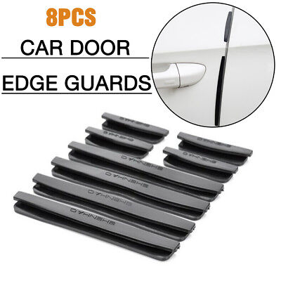 Black Car Door Edge Guards Trim Protection Strip Protector Anti-crash Sticker FK