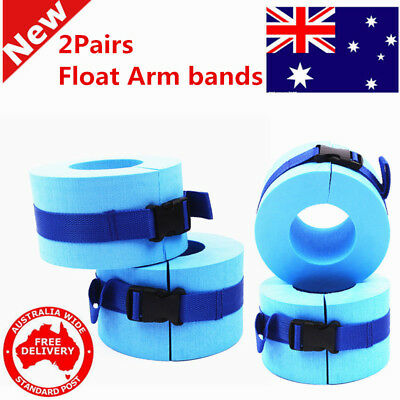 2Pairs Swim Arm Bands Rings Training Tool,Floats Tube Armlets for Kids and Adult