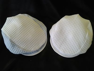 100% Cotton Waffle Caps - Available in White & Blue /White (Made in the UK)
