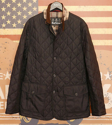 £159 Mens Barbour Quilted Sander smart navy jacket XL Large 40 42 Lutz style