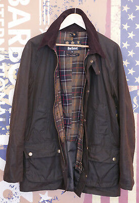 £199 Mens Barbour Ashby smart olive green wax jacket size XL