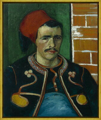 Framed Vincent van Gogh The Zouave Giclee Canvas Print Paintings Poster