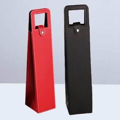 2 Pcs Resuable Fashion Advanced Leather Wine Bottle Cover for Outside Travelling