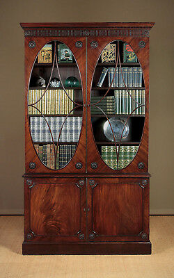 Antique Large Edwardian Mahogany Bookcase c.1910.