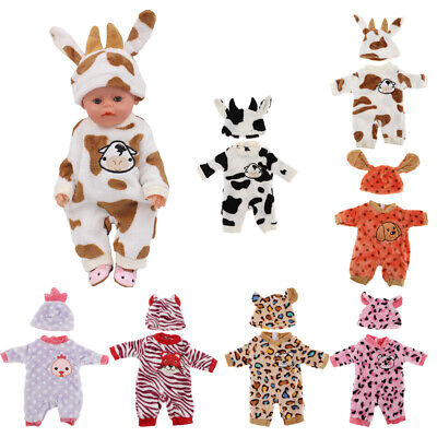 Baby Doll Animal Clothes Set Suit for Girl Dolls Cartoon Outwear with a Hat