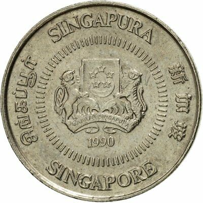 [#542974] Coin, Singapore, 10 Cents, 1990, British Royal Mint, EF(40-45)