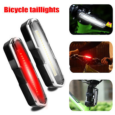 USB Rechargeable Bike Tail Light Cycling Bicycle LED Warning Rear Lamp 5 Modes