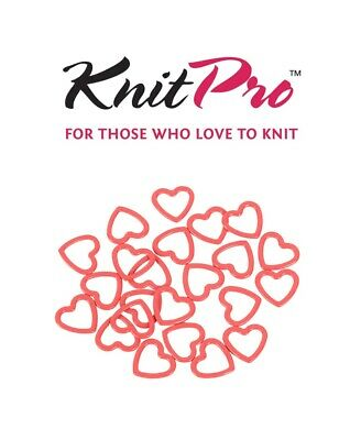 KnitPro Metal Heart Stitch Markers - Pack of 40 - Two Colours - Knitting Crochet