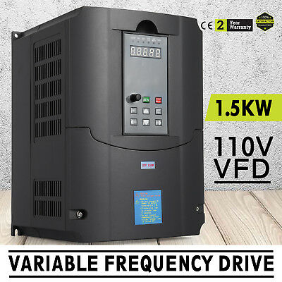 1.5KW 110V Variable Frequency Drive 2HP VFD perfect motor VSD 1500W 3 Phase