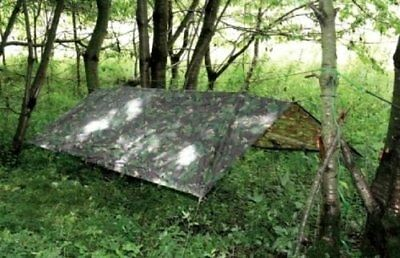 Military Basha Waterproof Shelter 2.5M British Army Tent MTP BTP Fishing Bivi