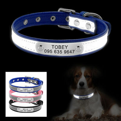 Reflective Personalized Dog Collar Pet Dog Name Phone Free Engrave for Chihuahua