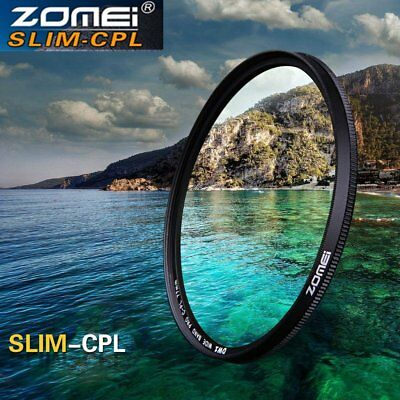 40.5/55/72/86mm ZOMEI Ultra Thin CPL Circular Polarizing Filter For Camera F7