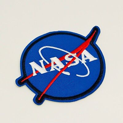 NASA Patch — Iron On Badge Embroidered Motif — Space Theme Costume Astronaut