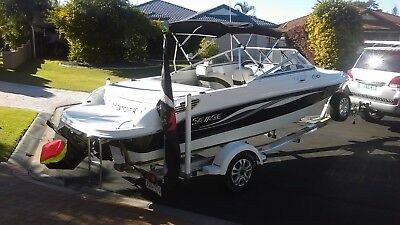 2012 Savage Bowrider 195B With Polished Alloy / Gal Trailer