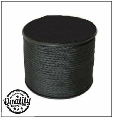 Army Military Black 100m Strong Paracord On Reel Bivi Tent Camping Rope Outdoor
