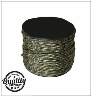 Army Military Camouflage Green 100m Paracord On A Reel Bivis Tent Camping Rope