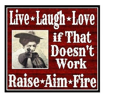 Funny Magnet Cowgirl Gift Live Laugh Love Raise Aim Fire Magnet