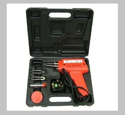 150W Soldering Gun Kit With Tips, Wire, Paste And Carry Case 68406