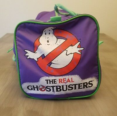 """VINTAGE 1986 THE REAL GHOSTBUSTERS SLUMBER MATE  22"""" L x 9"""" H x 9"""" W DUFFEL BAG"""
