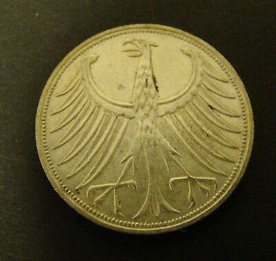 1971-F GERMANY 5 MARK SILVER        Foreign Coin    German   Federal Republic