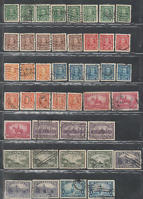 Candian Stamps Used #217-#227 Lot Of King George V Pictorial Issue