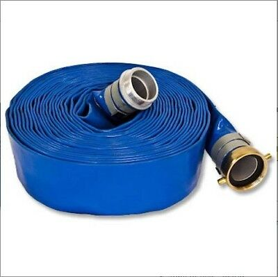 "2"" X 100 Ft Blue Pvc Water Discharge Hose New"