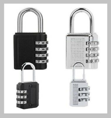 3 Dial 4 Dial Resettable Combination Padlock Luggage Suitcase Password Lock