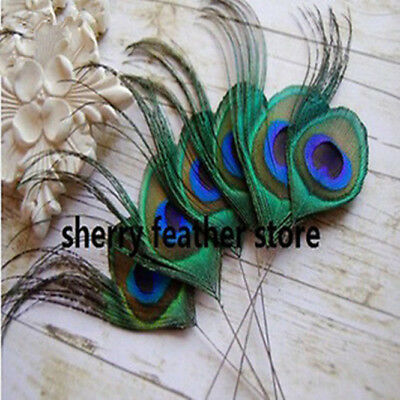 6-8inches Peacock Feather Trimmed peacock eye costumes DIY Decorative Wedding