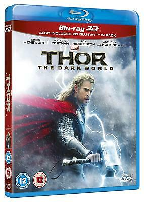 THOR 2: The Dark World [Blu-ray 3D + 2D] Combo Pack 2-Disc Set Marvel Avengers
