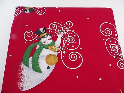 Christmas Tablecloth 60 x 102 Red Cotton NIP Perfect For Holiday Entertaining