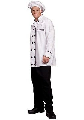 Men's Master Chef Costume One Size Fits Most.