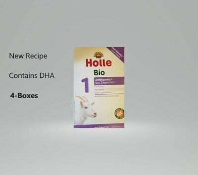 4-Boxes Holle Organic Goat Milk Stage-1 400g Free Priority Shipping