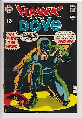 Hawk & Dove 5 Silver Age DC 6.0 FN Gil Kane 60s Teen Titans JLU RARE Later Issue