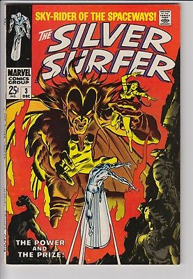 Silver Surfer 3 Silver Age Marvel Comics 8.0 VF First Appearance Mephisto